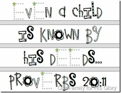 Some different ABC Bible verse printables to use with Kayleigh next year since she loved them so much last year