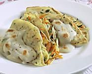 Crepes alle verdure Crepes, Cauliflower, Chicken, Meat, Vegetables, Oven, Pancakes, Cauliflowers, Vegetable Recipes