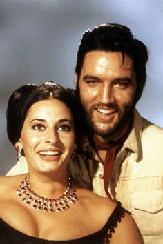 """The ORIGINAL: Publicity picture of Elvis Presley as Jess Wade and Ina Balin as Tracey Winters in """"Charro!"""" Filmed at Apacheland, Arizona, July 21 - August 3, 1968 and released in theaters March 13, 1969."""