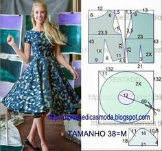 Vestido falda plato