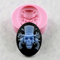 Skull Guns and Roses Cameo Mold Mould Resin Polymer Clay Soap Wax PMC (306). $6.00, via Etsy.