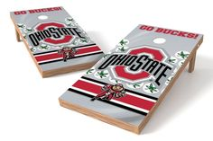 Ohio State Buckeyes Cornhole Board Set - Wild (w/Bluetooth Speakers)