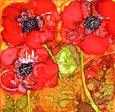Painting - Red Oriental Poppies by Vicki Baun Barry