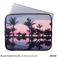 Elegant Tropical Trees Silhouette | Laptop Sleeve Custom Laptop, Best Laptops, Tree Silhouette, Best Sites, Personalized Products, Laptop Sleeves, Your Photos, Tropical, Trees