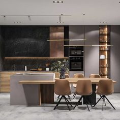 Cartelle designed by the Design, this property makes one of its top functionality through easy to clean natural materials, spaces and furniture overloaded little practical. Modern Kitchen Interiors, Modern Kitchen Cabinets, Home Decor Kitchen, Kitchen Living, Home Kitchens, Contemporary Kitchen Design, Modern Kitchen Island Designs, Modern Kitchen Furniture, Small Modern Kitchens