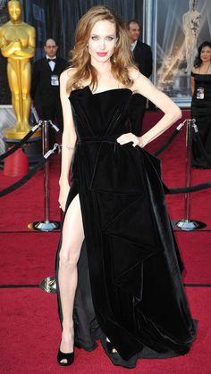 Angelina Jolie attends 2012 Oscars