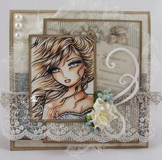 Crafteezee: A beautiful Hannah Lynn image perfectly coloured by Tracy Payne. Love the card design too.