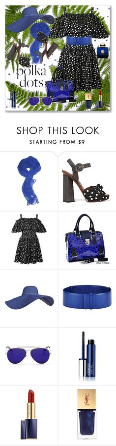 """Polka Dottie!"" by lois-boyce-flack ❤ liked on Polyvore featuring Dolce&Gabbana, Dasein, Salvatore Ferragamo, Alexander McQueen, Clinique, Estée Lauder, Yves Saint Laurent, AMOUAGE and PolkaDots"