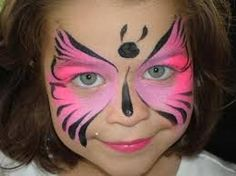 Butterfly Face Painting for Children: Designs, Tips and Tutorials The Face, Face And Body, Full Face, Butterfly Face Paint, Pink Butterfly, Simple Butterfly, Butterflies, Girl Face Painting, Face Paintings