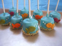 Easy marshmallow pops - perfect under the sea or beach party favor!