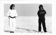 With Alex at Etosha Pan, Namibia 1991