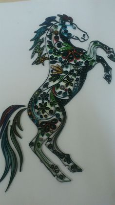 Quilling horse on Behance