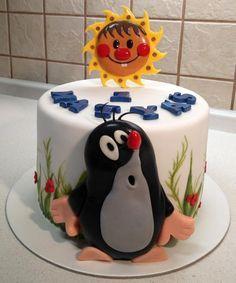 Little Mole (Krteček) - cake by Majka Maruška Fancy Cakes, Cute Cakes, Fondant Cakes, Cupcake Cakes, Mole Day, Cake Decorating For Beginners, Cake Topper Tutorial, Doughnut Cake, Birthday Cake Decorating
