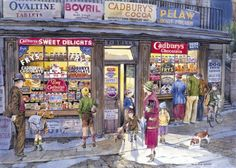 Gibsons - Corner Shop 500 Piece Jigsaw Puzzle: Amazon.it: Giochi e giocattoli