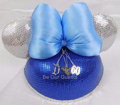 Disney Disneyland 60th Diamond Celebration Sequin Minnie Mouse Ear Hat New #Disney