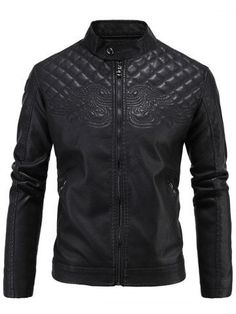 GET $50 NOW   Join RoseGal: Get YOUR $50 NOW!http://m.rosegal.com/mens-jackets/embroidered-thicken-pu-leather-fleece-zip-up-824300.html?seid=7291585rg824300