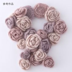 Rose mohair scarf...find pattern...website in Japenese