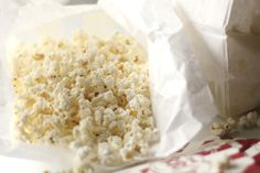 how to make your own microwave popcorn. totally doing this!