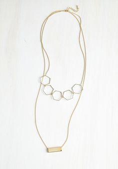 Shimmy Shimmy Shape Necklace   Mod Retro Vintage Necklaces   ModCloth.com