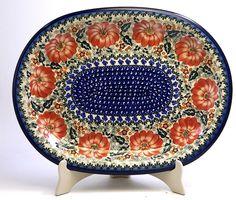 Polish Pottery - Large Oval Baker - 326   The Polish Pottery Outlet