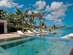 Villa St Barthélémy, piscine à débordement #vacances #piscine