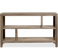 """$400 / Dune 50"""" x 31"""" Bookcase - The asymmetrical shelving design of the Dune collection will add an element of visual interest to any room. The larger bookcase features seven different"""