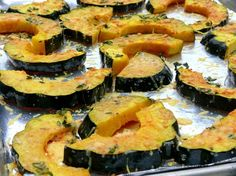 This is by far my favorite way to eat acorn squash. The Parmesan and the thyme, knocks this one out &helip;
