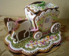 GINGERBREAD HOUSE~ HORSE & CARRIAGE