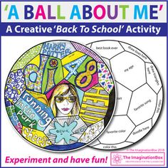 Back to School Fun Art 'All About Me' Soccer Ball Doodle