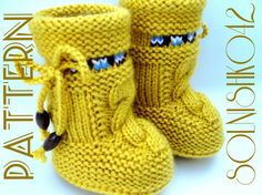 P A T T E R N Baby Booties Baby Shoes Pattern by Solnishko43, $5.50