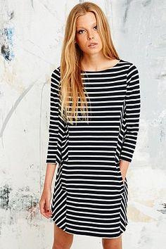 Petit Bateau Stripe Breton Dress in Navy - Urban Outfitters