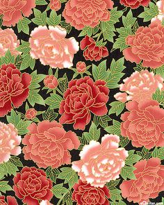Exotic Garden - Peony Jewels - Dusty Rose/Gold