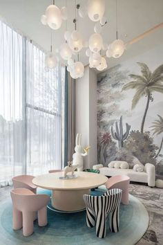 Xi'an Jinhui Jiangshan Mingsale Sales Office   Jiai Design-Jiane Interior Design Network-Design Cases Baby Room Decor, Bedroom Decor, Estilo Art Deco, Kids Room Design, Kids Bedroom Designs, Kid Spaces, Girls Bedroom, Luxury Kids Bedroom, Room Interior