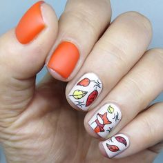 Cute fox in autumn colors with Mr. Fox plate from Block Orange Mild Flaws ❤️ Nature World Fox Nails, Barry M Cosmetics, Autumn Nails, Cute Fox, Orange Nails, Nail Artist, Swag Nails, Art Day, Nail Art Designs
