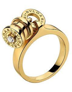 Solitario B.Zero 1 de Bulgari en oro amarillo y diamantes