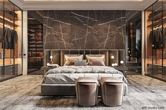 30 Awesome Luxury Bedroom Design Ideas You Never Seen Before - A number of interior designers have had successes from previous designs that capture the plain white room into something that can distract an owner de. Modern Luxury Bedroom, Luxury Bedroom Design, Master Bedroom Interior, Modern Master Bedroom, Master Bedroom Design, Luxurious Bedrooms, Paris Bedroom, Luxury Home Decor, Interior Design