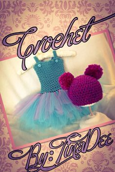 Custom ordered Abby Cadabby inspired tutu dress and hat set made Crochet by: TinaDee