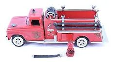 VINTAGE TONKA PRESSED STEEL SQUARE FENDER FIRE DEPT. SUBURBAN PUMPER W/ HYDRANT  | eBay