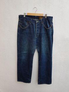 Vintage 90s Journal Standard Homestead Japanese Denim Trouser Jeans Pants Size 34 Trouser Jeans, Denim Jeans, Trousers, Japanese Denim, Thighs, Journal, Vintage, Fashion, Moda
