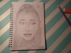 Ariana grande my drawing by Renske  It's not my best drawing.