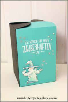 """Wie versprochen gibt es eine 2. Variante einer Schachtel, die mit der Stanzform """"Schachtel voller Liebe"""" hergestellt wurde.Bei dieser Schachtel ist das g"""
