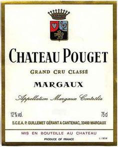Etiquette de Chateau Pouget, Margaux