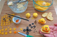 Cute Baby Desserts | Hungry Happenings: Baby Chick Cheese Balls - cute little appetizers ...