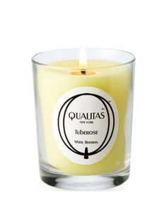 Tuberose Beeswax Candle by Qualitas Candles at Gilt