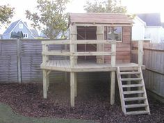 simple backyard fort,make sandbox on bottom, slide on one side to come down & possible rock wall rather than steps to climb up.