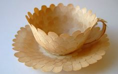 Recycled Paper Tea Cups by Cecilia Levy