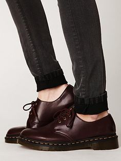 Vegan 3 Eye Gibson Shoe in Red $115.00 shoes, doc martens, style, gibson oxford, eye gibson, gibson doc, gibson shoe, marten vegan, eyes