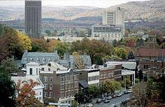 The town of Amherst and the UMass campus.