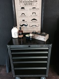 Chevrolet Truck Bench Garage Salon Mancave Barber Route 66 Pinup Viper Tool Storage Box Beard Care Grooming
