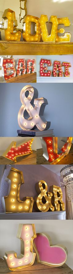 Carnival Letters : awesome #wedding #lighting